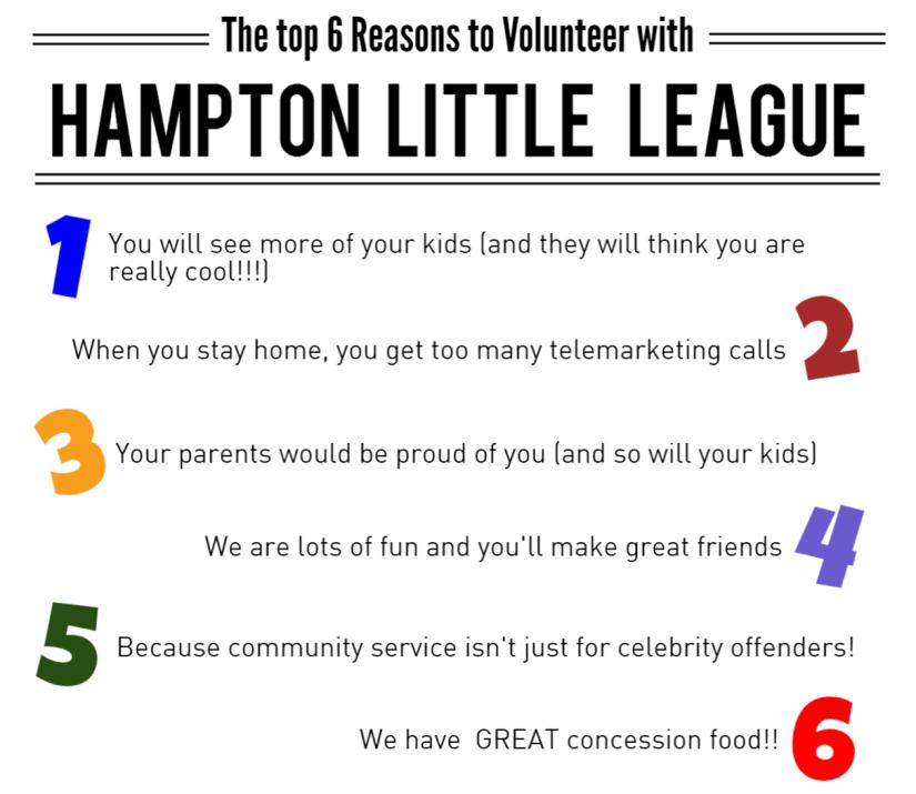 top reasons volunteer