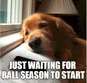 waiting for ball