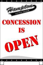 Hampton Concession Open Sign 2019